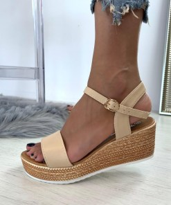 Sandale Platforma Aubree Bej #B4630