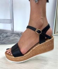 Sandale Platforma Aubree Negre #B4629