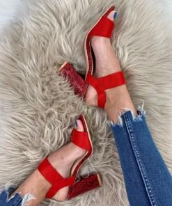Sandale Quinn Rosii #B4134