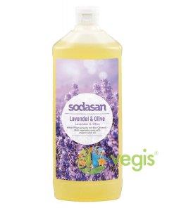 Sapun Lichid si Gel de Dus cu Lavanda si Masline Ecologic/Bio 1L