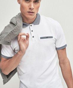 Tricou polo slim fit - cu garnituri contrastante - 2073661