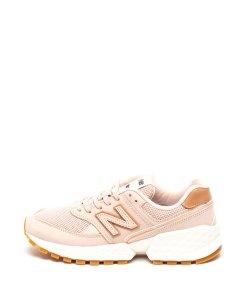 Pantofi sport cu garnituri de piele nabuc 574 - 2283763