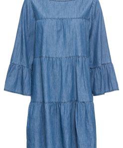Bonprix Rochie cu aspect de blugi - albastru prespalat