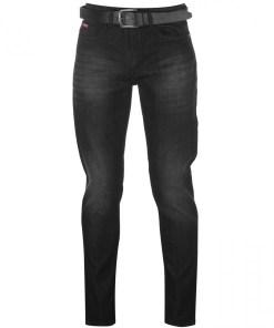 Blugi slim fit Lee Cooper Belted Slim Jeans