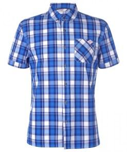 Camasa cu maneca scurta Lee Cooper Short Sleeve Check Shirt Mens