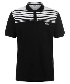 Tricou polo Lonsdale Yarn Dye Stripe Polo Shirt Mens