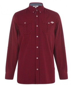 Camasa in carouri - Lee Cooper Long Sleeve Shirt Mens 1060560