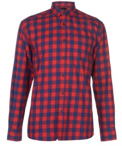 Camasa in carouri - Pierre Cardin Long Sleeve Check Shirt Mens 908779