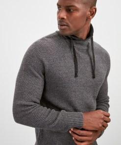 Maleta Helanca Trendyol Grey New Male Degaje Collar Sweater New