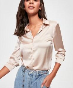 Camasa - Trendyol Beige Basic Shirt 1046108