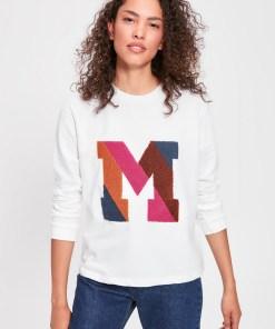 Hanorac - Trendyol Ecru Letter Embroidered Basic Knitted Sweatshirt 1030979