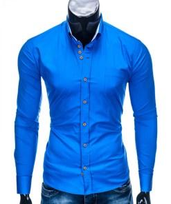 Camasa cu model Ombre Clothing Men's elegant shirt with long sleeves K302