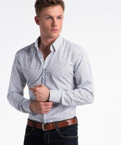 Camasa cu model Ombre Clothing Men's shirt with long sleeves K475