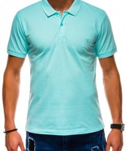 Tricou polo Ombre Clothing Men's plain polo shirt S1048
