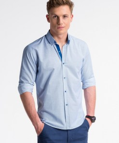 Camasa business Ombre Clothing Men's elegant shirt with long sleeves K478