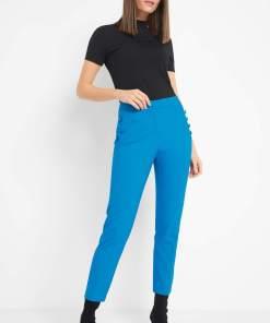 Pantaloni la dungă Albastru