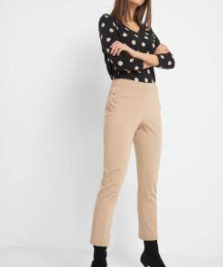 Pantaloni la dungă Bej