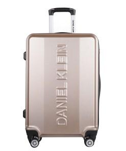 Valiza Daniel Klein DKL.7001.30.M din material plastic champagne