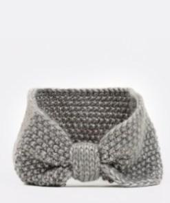 Bentita KLOP gri, L314, din material textil