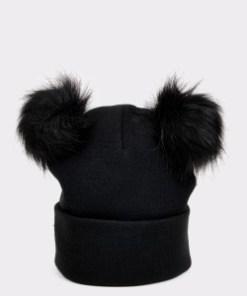 Caciula ALDO neagra, Fuchsia001 , din material textil