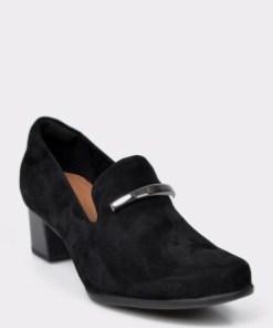 Pantofi CLARKS negri, Un Damson Lane, din piele intoarsa