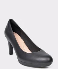 Pantofi CLARKS negri, Adriel Viola, din piele naturala