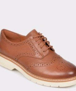 Pantofi CLARKS maro, Witcombe Echo, din piele naturala