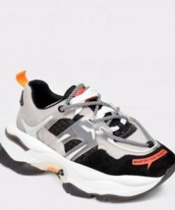 Pantofi sport FLAVIA PASSINI gri, 99189, din material textil si piele naturala