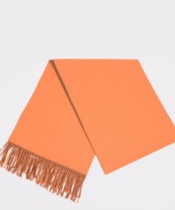 Esarfa KLOP portocalie, H80, din material textil