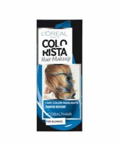 Gel colorant pentru par L'Oreal Paris Colorista Hair Makeup, Cobalt Blue, 30 ml