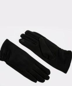 Manusi ALDO negre, Grydia001, din material textil