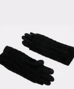 Manusi ALDO negre, Loverralia001, din material textil