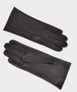 Manusi SEMPRE TRIM negre, D31, din piele naturala