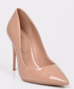 Pantofi ALDO nude, Stessy, din piele ecologica lacuita