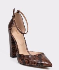 Pantofi ALDO maro, Nicholes, din piele ecologica