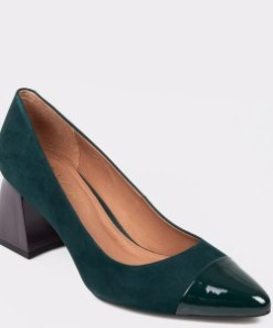 Pantofi EPICA verzi, 8493456, din nabuc