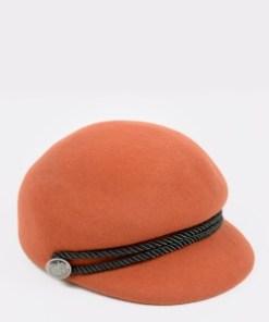 Palarie ALDO portocalie, Lurwen221, din material textil