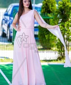 Rochie Lunga Eleganta Voal Rose