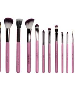 Set 12 pensule profesionale machiaj Fraulein38 Pink Candy + Borseta Cadou