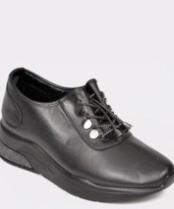 Pantofi FLAVIA PASSINI negri, Dbs17, din piele naturala