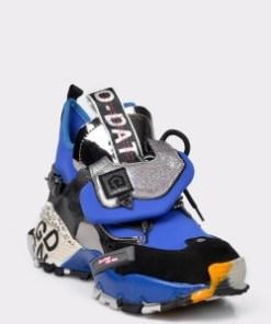 Pantofi sport FLAVIA PASSINI albastri, 4402911, din material textil si piele naturala