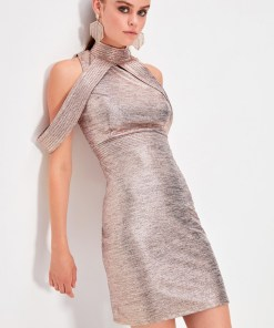 Rochie mini - Trendyol Copper collar Detailed Dress 997333