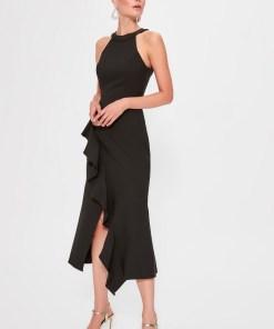 Rochie de seara - Trendyol Black Flywheel Detailed Dress 1025452