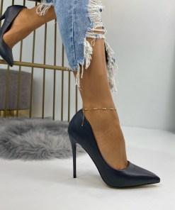 Pantofi Stiletto Dama Piele Ecologica Bleumarin Camea B6730