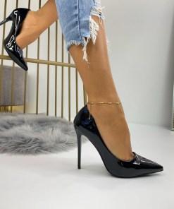 Pantofi Stiletto Dama Piele Ecologica Negri Dakia B6738