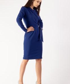 Rochie petrecuta cu funda albastru 36
