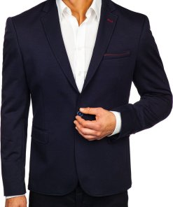 Sacou elegant barbati bleumarin Bolf RBR406