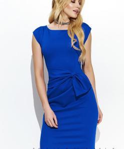 Rochie eleganta, conica, de culoare albastra