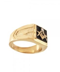 Inel placat cu aur Invictus