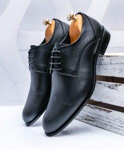 Pantofi barbati Piele negri Facerio-rl